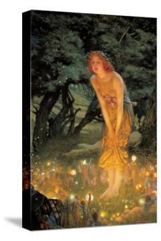 Midsummer Dream-Edward Robert Hughes-Stretched Canvas