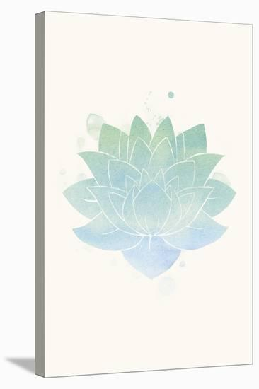 Mindfulness - Lotus--Stretched Canvas Print
