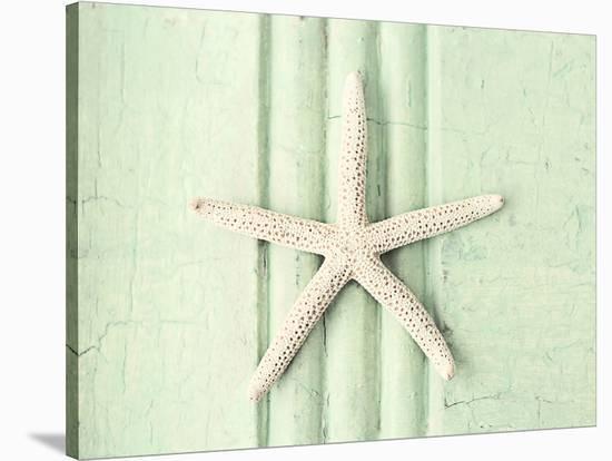 Mint Green Starfish--Stretched Canvas Print