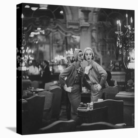 Models Wearing Latest Spring Fashions-Gordon Parks-Stretched Canvas Print