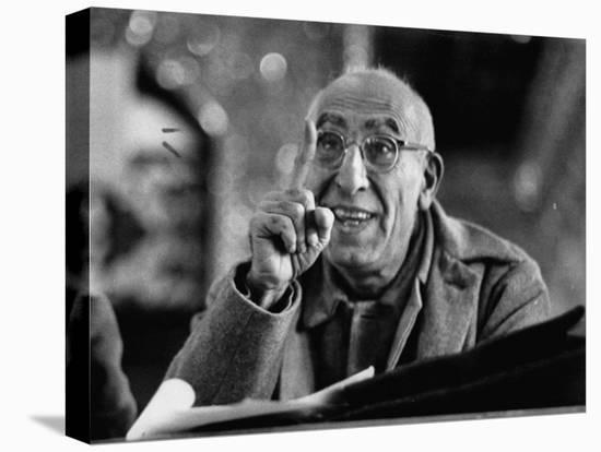 Mohamed Mossadegh, Premier of Iran, Correcting the Prosecutor's Grammar at His Trial-Carl Mydans-Stretched Canvas Print
