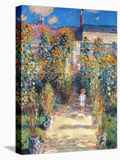 Monet: Garden/Vetheuil-Claude Monet-Stretched Canvas Print