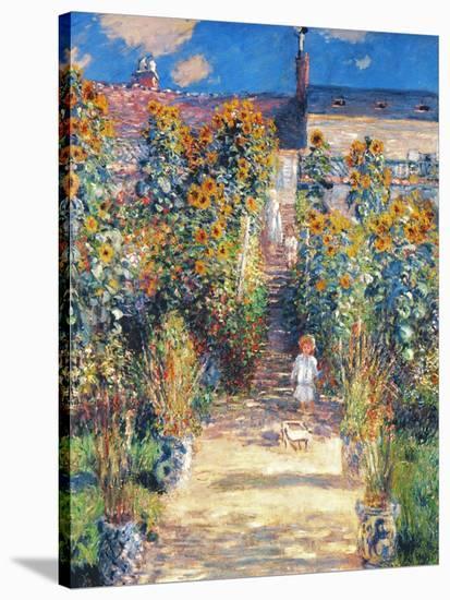 Monet: Garden/Vetheuil-Claude Monet-Stretched Canvas Print