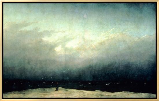 Monk by Sea, 1809-Caspar David Friedrich-Framed Canvas Print