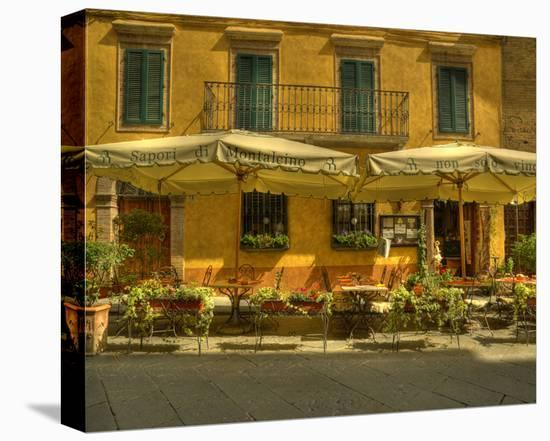 Montalcino Café-Richard Desmarais-Stretched Canvas Print