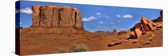Monument Valley North Widow-Richard Desmarais-Stretched Canvas Print