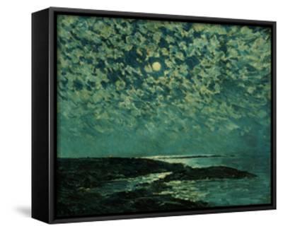 Moonlight, Isle of Shoals, 1892-Childe Hassam-Framed Canvas Print