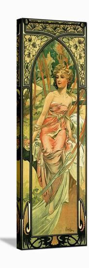 Morning-Alphonse Mucha-Stretched Canvas Print