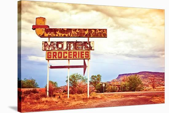 Motel Route 66--Stretched Canvas Print