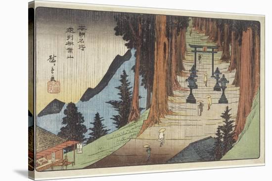 Mount Akiba in Enshu Province, 1837-1839-Utagawa Hiroshige-Stretched Canvas Print