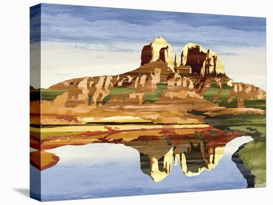 Mountains of Mesa-Mark Chandon-Stretched Canvas Print
