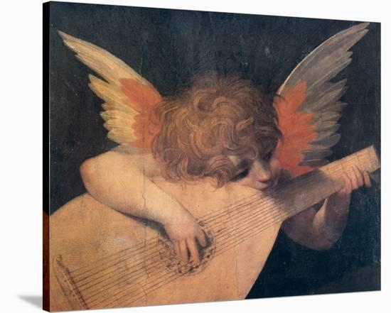 Muscian Angel, c.1520--Stretched Canvas Print