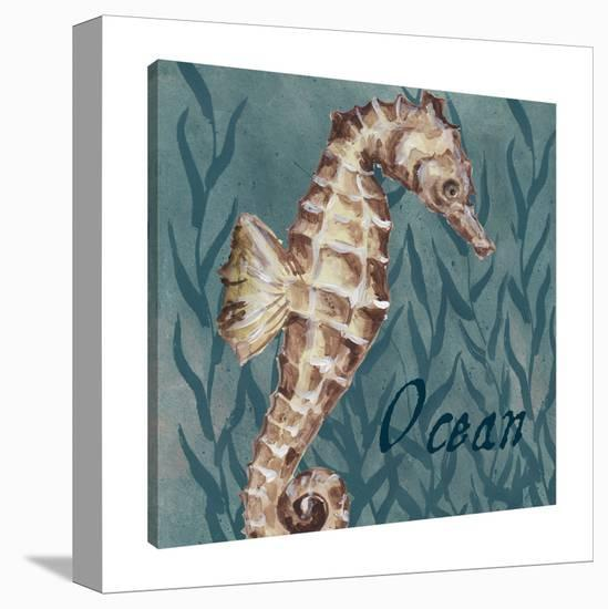 Nautical Critters: Sea Horse-Tre Sorelle Studios-Gallery Wrapped Canvas