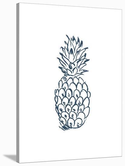 Navy Pineapple-Jetty Printables-Stretched Canvas Print