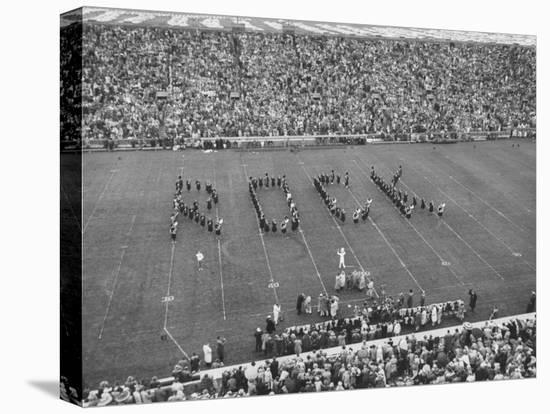 Navy vs. Notre Dame Football Game Half Time Tribute to its Legendary Coach, the Late Knute Rockne-Frank Scherschel-Stretched Canvas Print