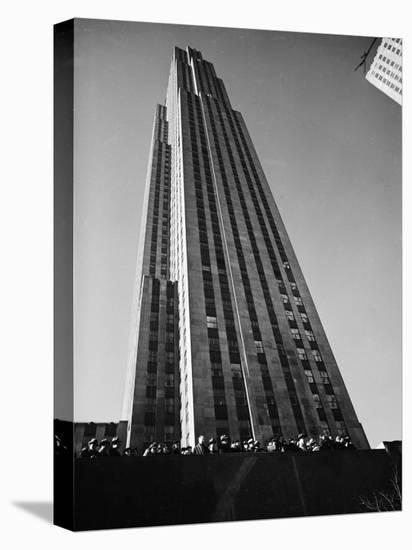Nbc Building at Rockefeller Center-Margaret Bourke-White-Stretched Canvas Print