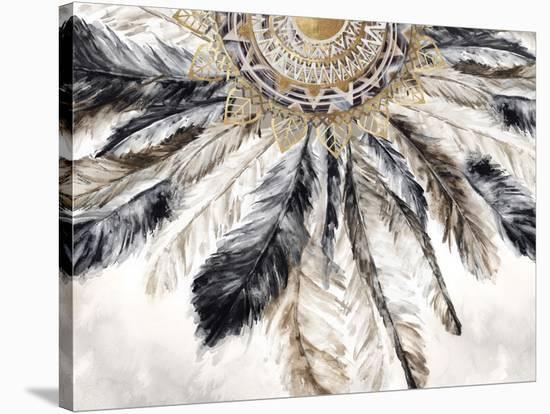 Necklace of Feathers I-PI Creative Art-Stretched Canvas Print