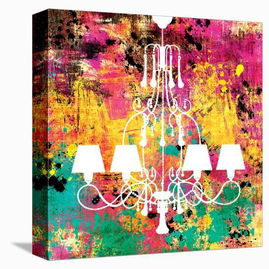 Neon Chandelier I-Miranda York-Stretched Canvas Print
