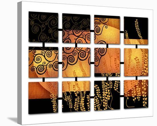 Networked Klimt-Michael Timmons-Stretched Canvas Print