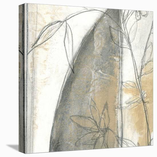 Neutral Garden Abstract III-Jennifer Goldberger-Stretched Canvas Print