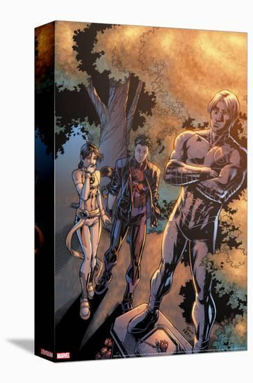 New X-Men No.13 Cover: Wind Dancer, Hellion and Northstar-Michael Ryan-Stretched Canvas Print