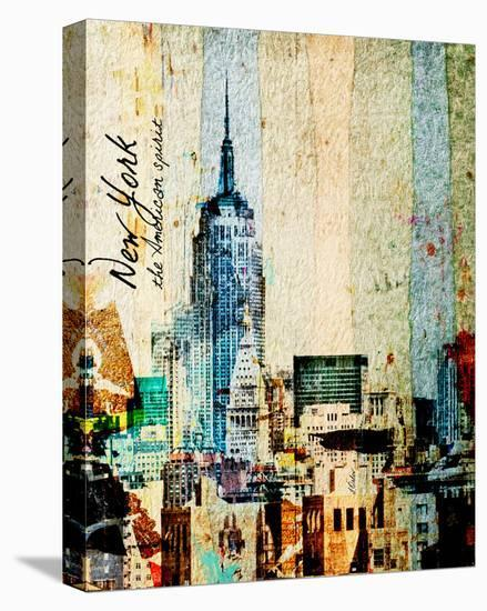 New York, The American Spirit--Stretched Canvas Print