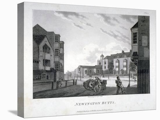 Newington Butts, Southwark, London, 1792-William Ellis-Stretched Canvas Print