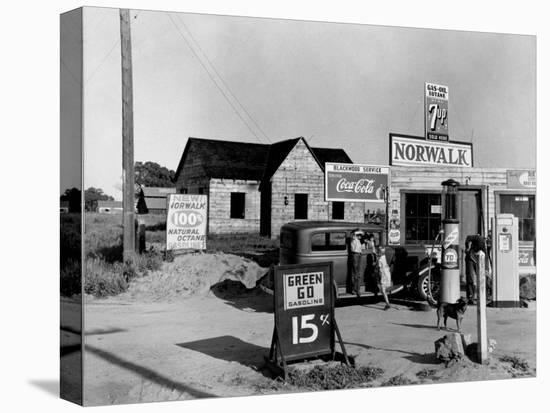 Newly Built Store and Trading Center, Typical of New Shacktown Community-Dorothea Lange-Stretched Canvas Print