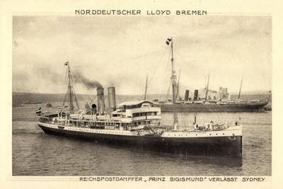 Norddeutscher Lloyd Bremen, Dampfer Prinz Sigismund--Stretched Canvas Print