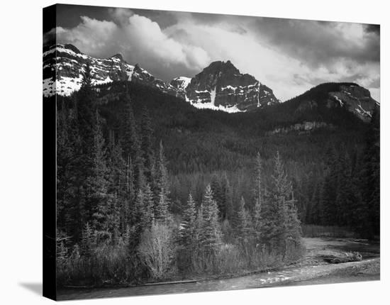 Northeast Portion, Yellowstone National Park, Wyoming, ca. 1941-1942-Ansel Adams-Stretched Canvas Print