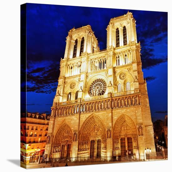 Notre Dame Cathedral Paris--Stretched Canvas Print