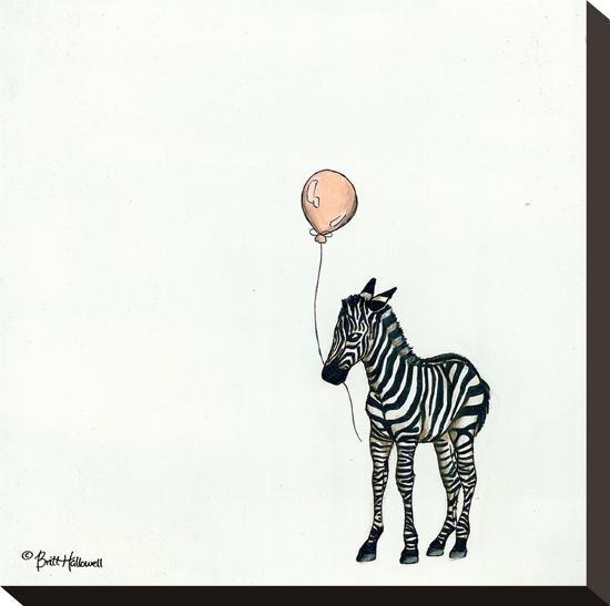 Nursery Zebra-Britt Hallowell-Stretched Canvas Print
