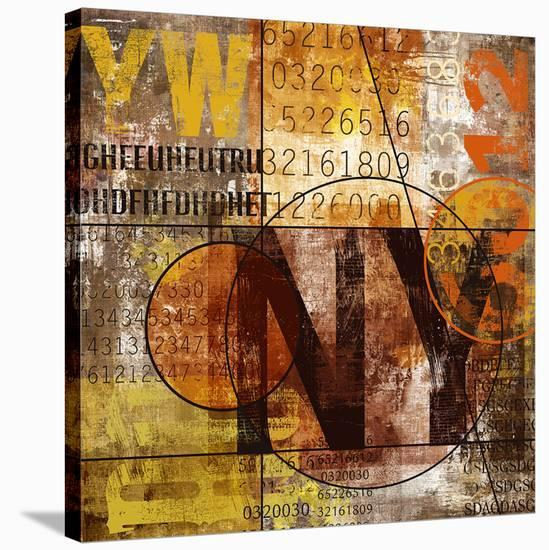 Ny Grunge Collage Letterset--Stretched Canvas Print