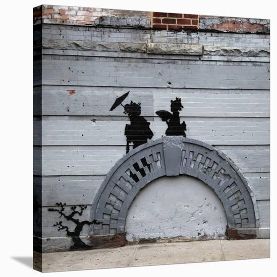 NYC Japanese Bridge-Banksy-Stretched Canvas Print