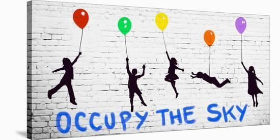 Occupy the Sky-Masterfunk collective-Stretched Canvas Print