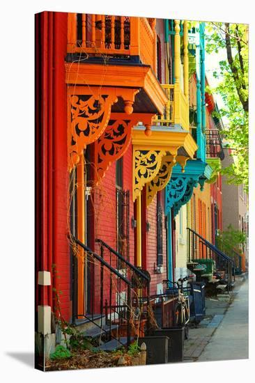 Old Architecture In Montreal--Stretched Canvas Print