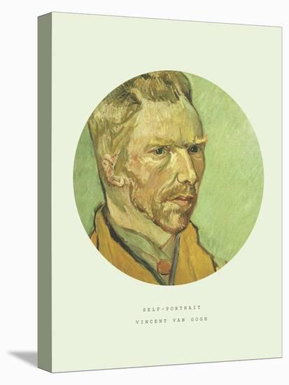Old Masters, New Circles: Self Portrait-Vincent van Gogh-Stretched Canvas Print