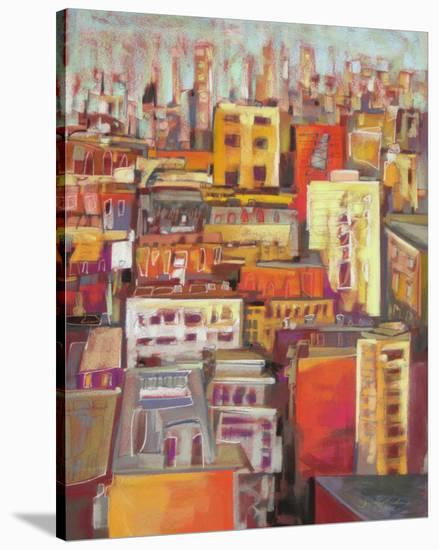 Orange Glow VII--Stretched Canvas Print