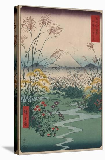 Otsuki Fields in Kai Province-Ando Hiroshige-Stretched Canvas Print