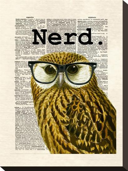 Owl Nerd-Matt Dinniman-Stretched Canvas Print