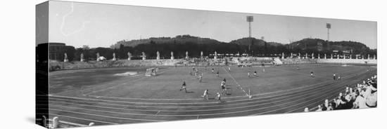 Pakistan Vs. Australia During Field Hockey at Olympics--Stretched Canvas Print