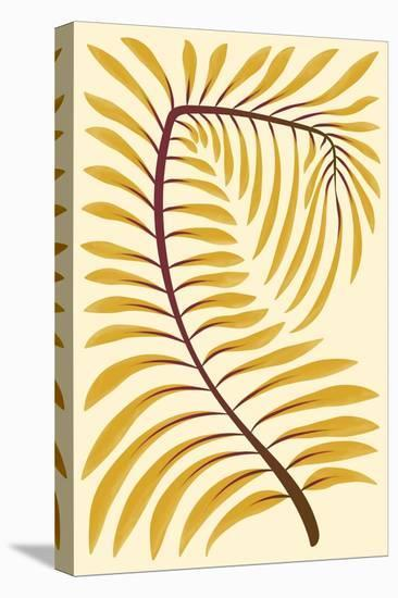 Palm Frond II--Stretched Canvas Print