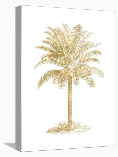 Palm Tree Golden White-Amy Brinkman-Stretched Canvas Print