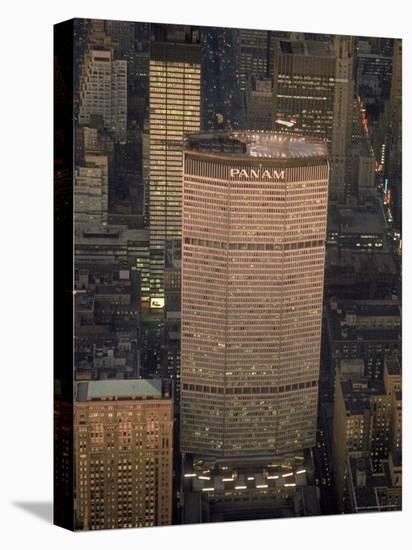 Pan Am Office Building in New York City with Private Helicopter Landing on the Rooftop Heliport-Arthur Schatz-Stretched Canvas Print
