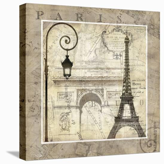 Paris Holiday-Keith Mallett-Stretched Canvas Print