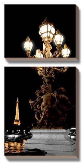 Paris Nights II-Jeff Maihara-Canvas Art Set