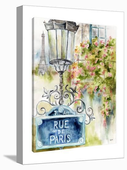 Paris Street Sign-Tre Sorelle Studios-Gallery Wrapped Canvas