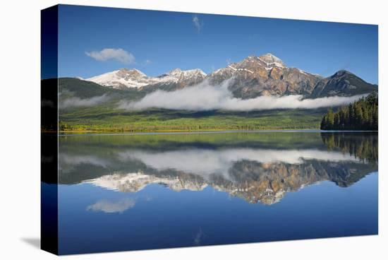 Patricia Lake Reflection-Mike Grandmaison-Stretched Canvas Print