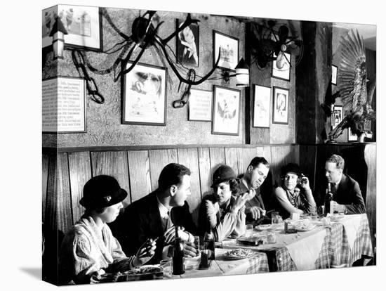 Patrons at a Prohibition Protected Speakeasy Popular for Drinking Aviators-Margaret Bourke-White-Stretched Canvas Print