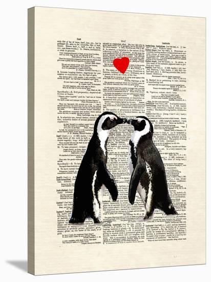 Penguin Lovers-Matt Dinniman-Stretched Canvas Print